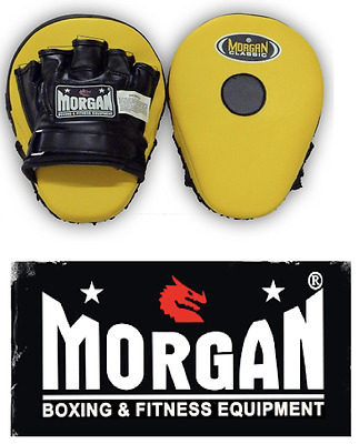 Boxing Pads Hook Jab Focus Mitts New Pair Martial Arts Mma Yellow Black Gloves