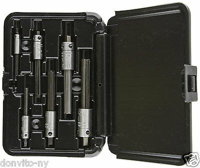 Walton Tool Co. 18001 #1 6 Pc 4 Flute Broken Trap Extractor Set Made in USA