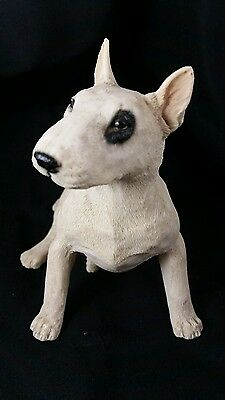 PIT BULL TERRIER DOG WHITE Figurine Statue Hand Painted Pet Pitbull high quality