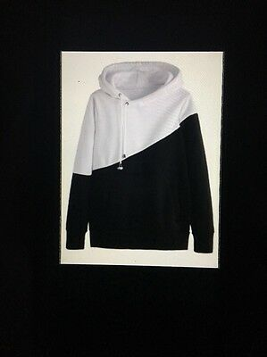 black and white hoodie size youth size large