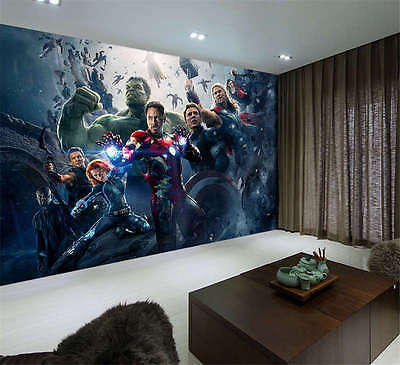 Avengers2 Age Ultron Battle Full Wall Mural Photo Wallpaper Print Home 3D Decal