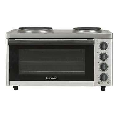 Euromaid 57cm Portable or Caravan Bench Top Electric Oven & Cooktop MC130T