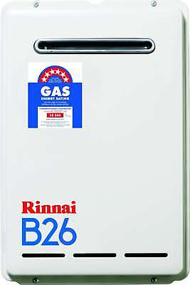 Rinnai Builders 50°C 26L Natural Gas Instantaneous Hot Water System B26N50A B26
