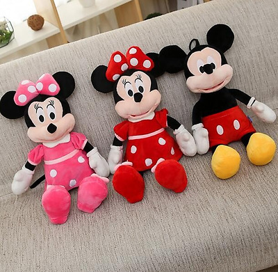 Mickey Mouse Minnie Mouse Plush Toy Stuffed Cartoon Doll 40cm Kids Gift Novelty