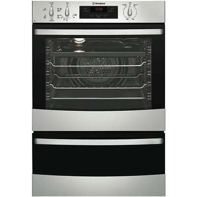 Westinghouse 60cm 80L Wall Electric Wall Oven With Seperate Grill WVE665S