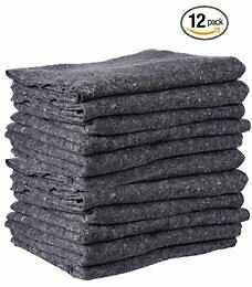 Cheap Cheap Moving Boxes - Textile Moving Blankets (12-Pack) - Grey - 72'' x