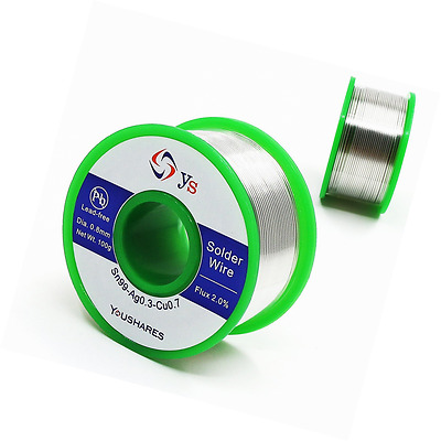 YOUSHARES 0.8mm Lead Free Solder Wire with Rosin Core for Electrical Repair Sold