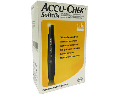 ~ Accu-Chek Softclix Lancing Device Virtually Pain Free Diabetes Accuchek