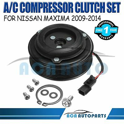 A/C Clutch Pulley Assembly Kit Set For Nissan Maxima  2009-2014 3.5L