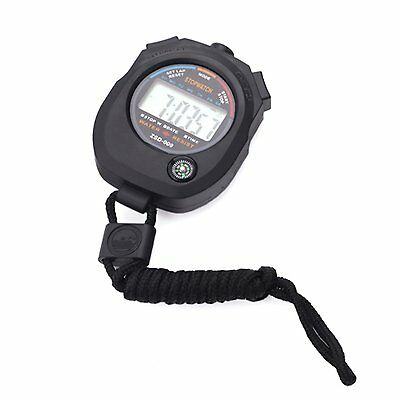 Water Resistant Sports Combine Digital Chrono Stopwatch Timer with Compass V3U8