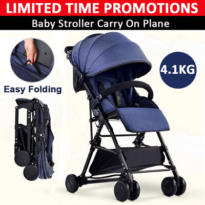 BABYCORE Lightweight Compact Baby Stroller Prams Kids Trike Travel Pushchair