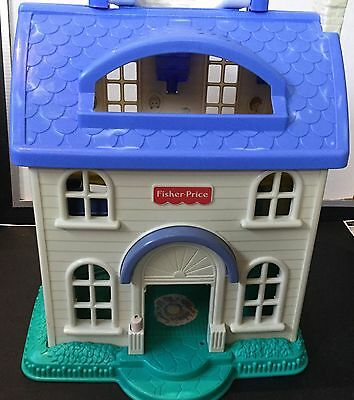 Vtg Fisher Price Little People Doll House 1996 Foldup Portable 2511 House Only