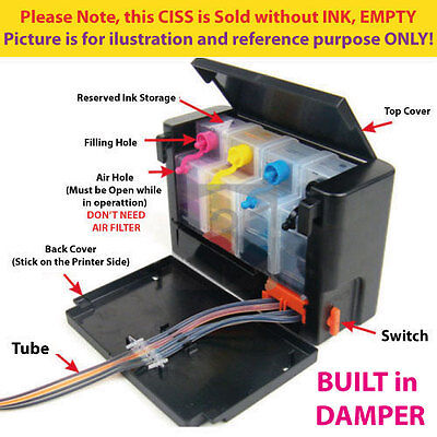 Empty DIY Continue Ink System CIS CISS for Canon MG4110 MG4210 MG3110 MG3210