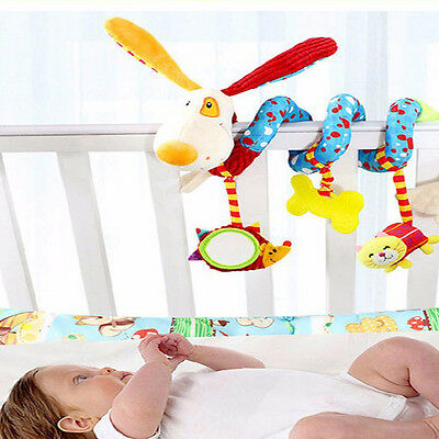 Cute Animal Handbells Developmental Toy Bed Bells Rattle Soft Toys For Baby Kids