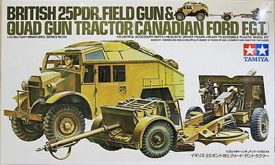 Tamiya 35044 1/35 Model Kit British Army 25 Pounder pdr Field & Quad Gun Tractor