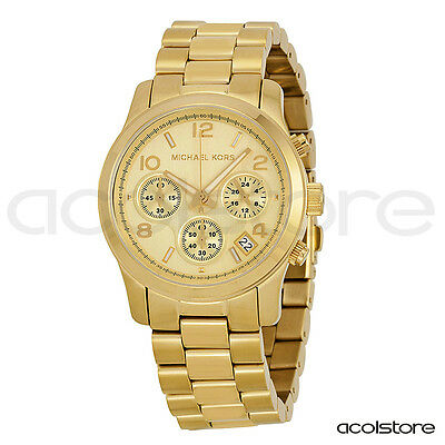 Orologio polso unisex donna uomo watch MICHAEL KORS MK5055 RUNWAY oro gold new