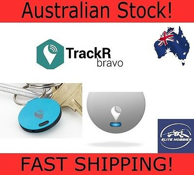 TrackR Bravo SILVER Tracker Chip Bluetooth for Apple Android App GPS FAST SHIP