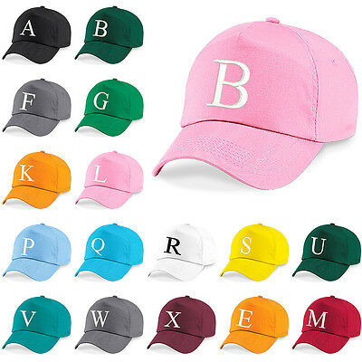 Kids Embroidery Baseball Cap Girls Boys Junior Childrens Hat Summer A Z Pink