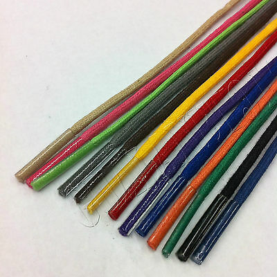 Colored Waxed Cotton Dress Shoelaces Round Oxford ShoeLaces Strings Shoestrings