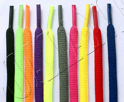 "1/4"" OVAL Athletic Shoelaces Sport Sneakers Shoe Boot Round Laces Neon Colors"