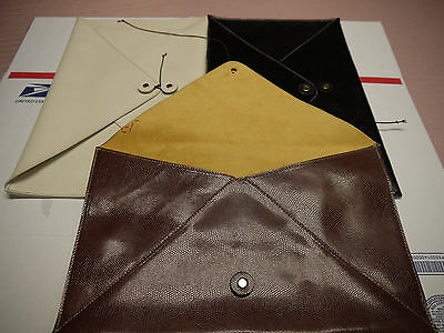 Wholesale Embossed Lizard Leather Envelopes  SPECIAL for ( 10 )Pieces  WIDE