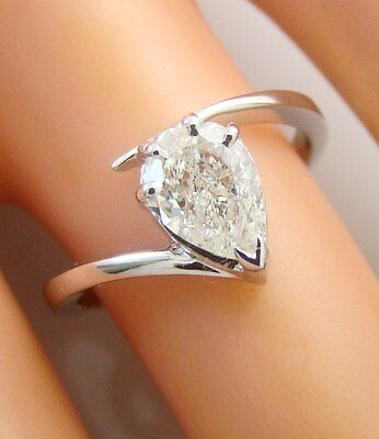 0.84 ct solitaire real diamond wedding engagement ring 18k white gold ring