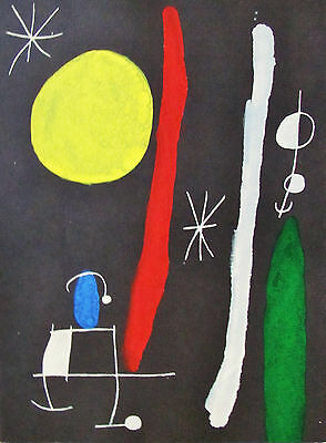 Miro - The Moon Etc. - Original Lithograph - 1967 - Free Shipping In The Us !!!