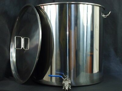 100ltr stainless steel stockpot mash tun hlt kettle with tap