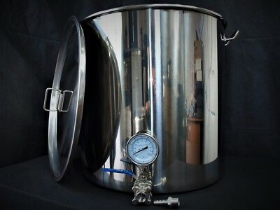 100ltr stainless steel brew tank with tap Thermometer (mash tun, Kettle, HLT,)