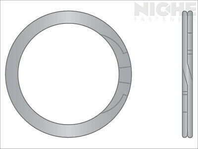 Spiral Retaining Ring External HD 1 Stainless Steel (50 Pieces)