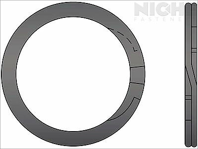 Spiral Retaining Ring External MD 2-5/8 Steel (7 Pieces)