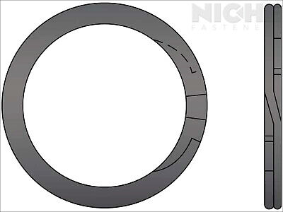 Spiral Retaining Ring External MD 1-1/2 Steel (10 Pieces)