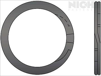 Spiral Retaining Ring External MD 1-1/2 Steel (50 Pieces)