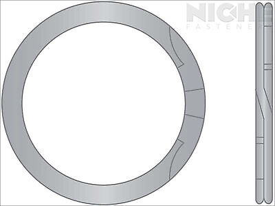 Spiral Retaining Ring Internal HD 1-5/8 Stainless Steel (2 Pieces)