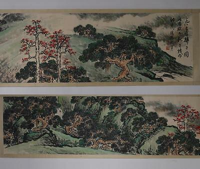 Rare Fine Antique Chinese Guanshanyue Mark Hand Painting Scroll