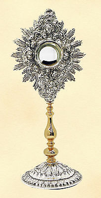 Ostensorio ottone bicolore brass Monstrance ostensoir Monstranz monstrancja