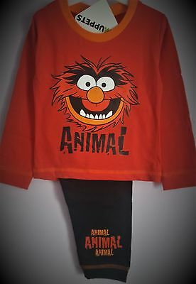 Animal Pyjamas Pj's Red Boys Long Sleeve The Muppets Pyjama Set T2TC202