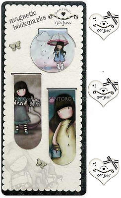Set 3 Segnalibri Magnetici GORJUSS by SANTORO LONDON Magnetic Bookmarks x Libro