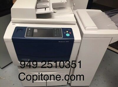 Xerox WC 5875,workcenter,copier,printer,color scan,clean,B56 finisher