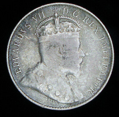 Canada 1902-H 5 cents silver