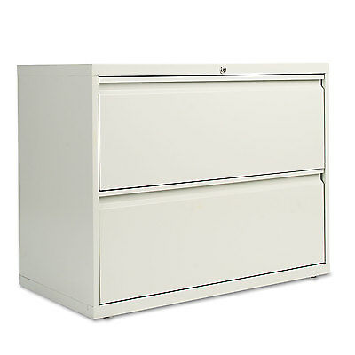 Alera Two-Drawer Lateral File Cabinet, 36w x 19-1/4d x 28-3/8h, Light Gray