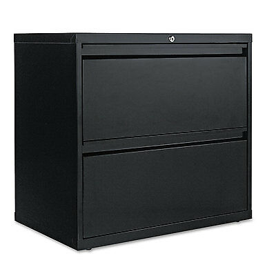 Alera Two-Drawer Lateral File Cabinet, 30w x 19-1/4d x 28-3/8h, Black LF3029BL