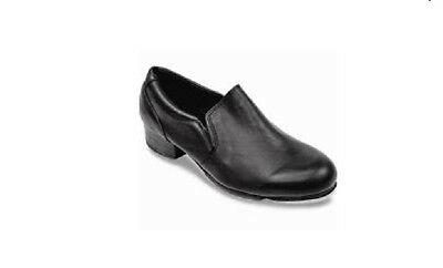 Sansha TA31 Black Women's 3M (fits Child 13.5) T-Rapid Leather Slip-On Tap Shoes