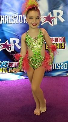 Blingy girls competition dance costume loaded with crystals