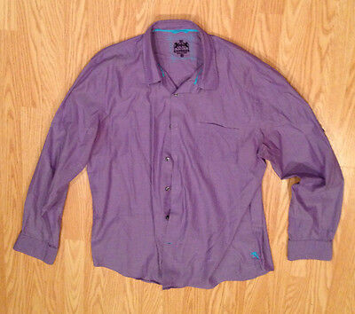 EXPRESS Button Down Purple Collar XL Extra Large Dress Men's Long Sleeve Casual