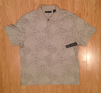 NATURAL ISSUE Men's Hawaiin Short SLeeve Casual Shirt T Tee XL Extra Large NWT !