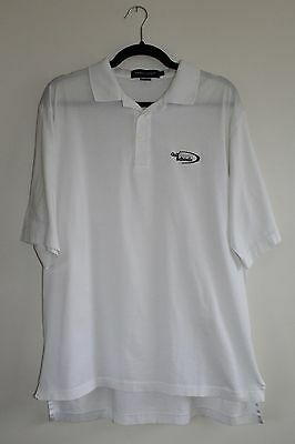 Ralph Lauren POLO GOLF Mens White Short Sleeve Polo T-Shirt. Size Large