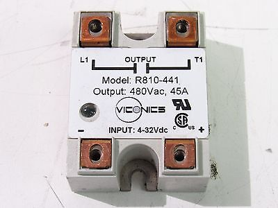 Viconics R810-441 Solid State Relay 480Vac 45A 4-32Vdc ***xlnt***
