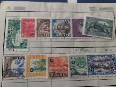 Liberia 11 different stamps with good cat value nice lot