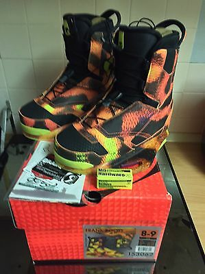 Ronix Frank Baitmaster Wakeboard Boots Bindings Perfect UK7/8 Immaculate - Boxed